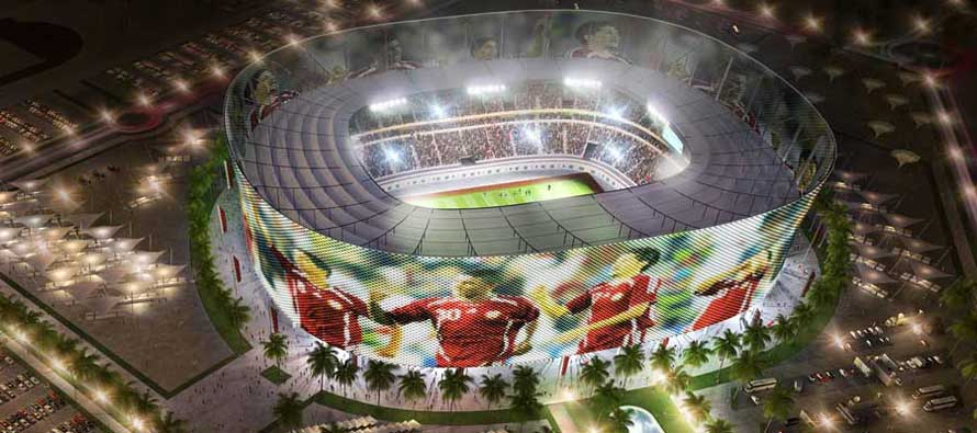 Al Rayyan stadium render at night