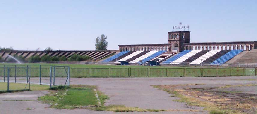 Main stand of Alashkert Stadium