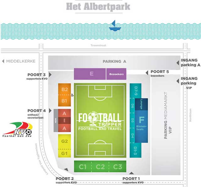 Acess map for Albertparkstadion