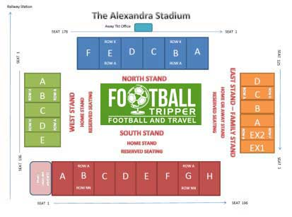 Alexandra Stadium Seating Plan