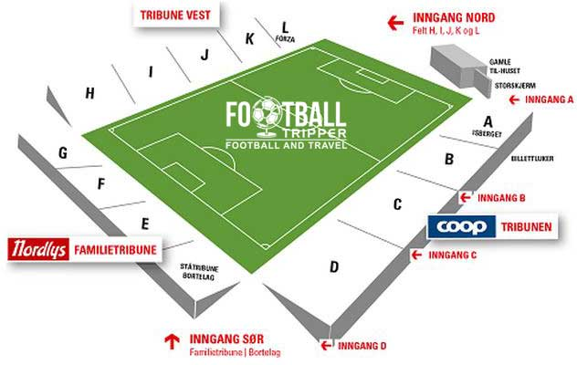 Alfheim Stadion seating chart