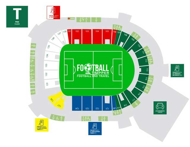 Seating chart for Allianz Parque Arena