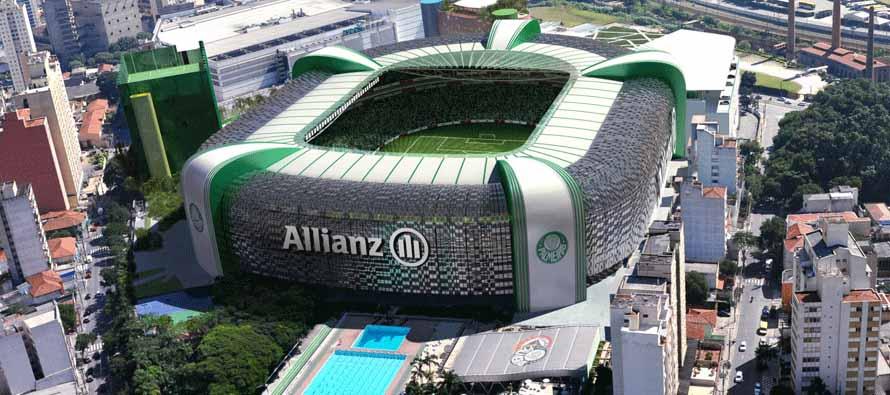 Aerial View of Allianz Parque
