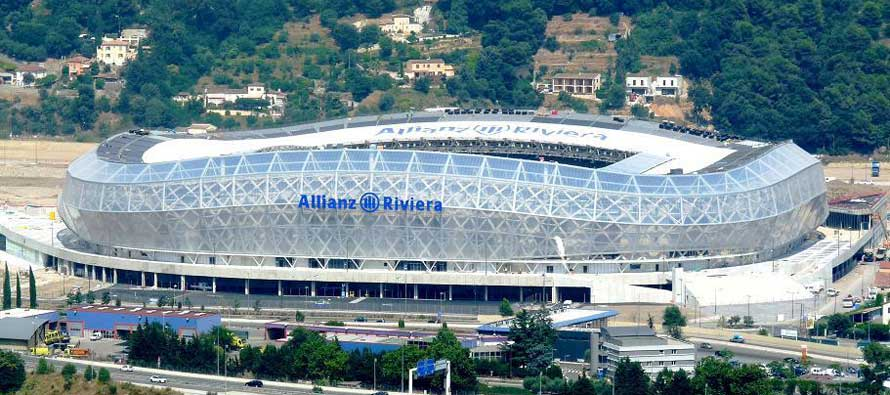 Allianz Riviera aerial view