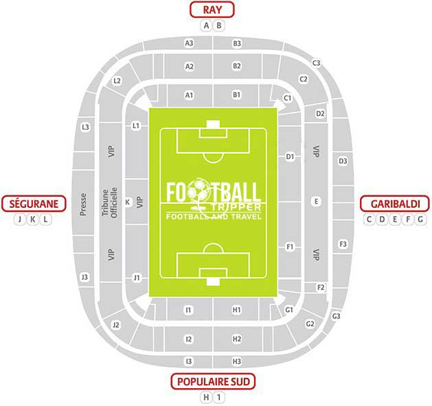 allianz riviera Seating Plan