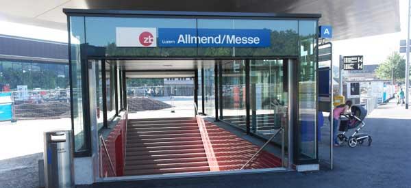 Allmen Messe Station Entrance