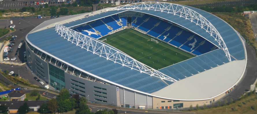 Inside the AMEX Stadium