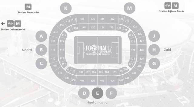 Amsterdam Arena Seating Plan