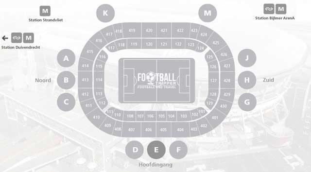Amsterdam Arena Seating Plan