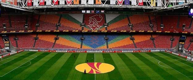Inside Amsterdam Arena Europa League