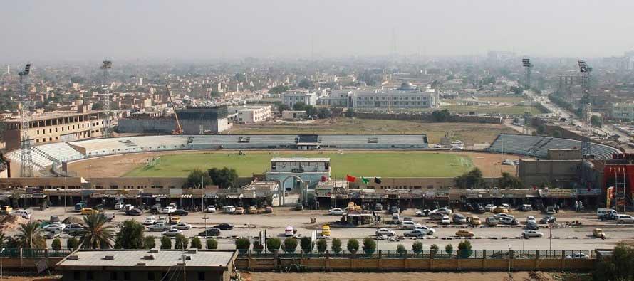 Aerial view of An Najaf Stadium