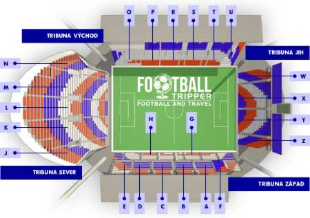 Seating map of Andruv Stadium