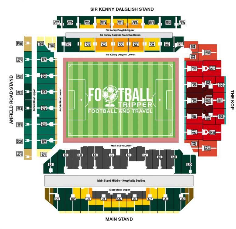 Anfield Stadium Seating Plan updated