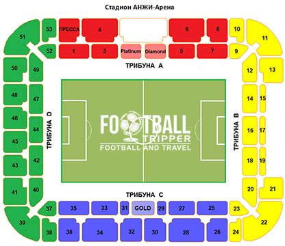 Anzhi Arena seating chart