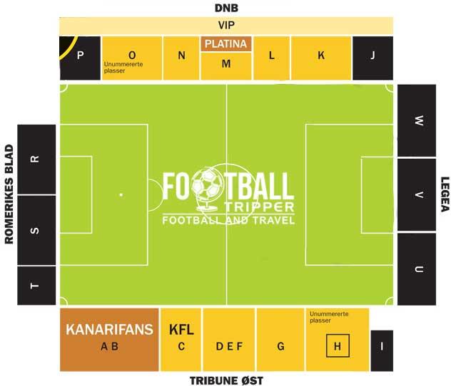 Åråsen Stadion seating chart