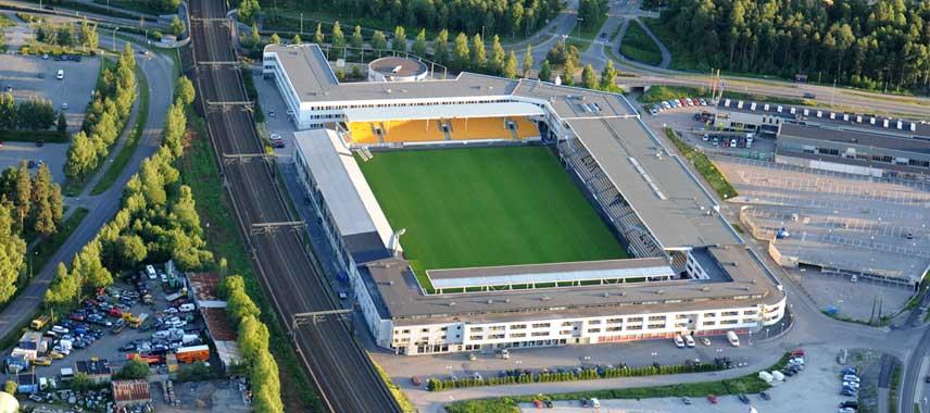 Aerial view of Arasen Stadium