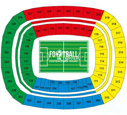 Seating plan for Amazon Arena