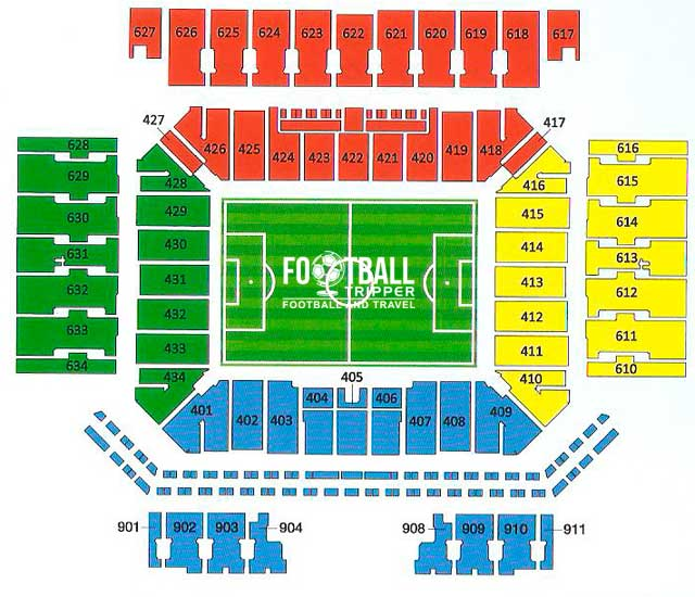 Seating chart for Arena Corinthians