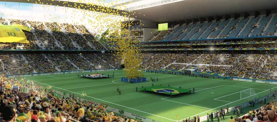 Inside Arena Corinthians befoe kick off