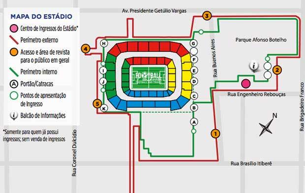 Arena Da Baixada map