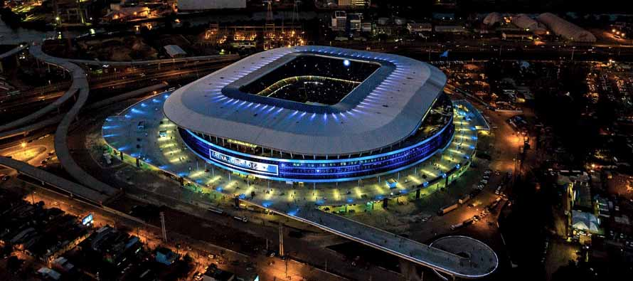 Aerial view of Arena Do Gremio at night