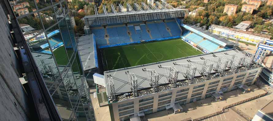 Aerial view of Arena Khimki