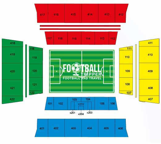 Seating plan of Arena Pantanal