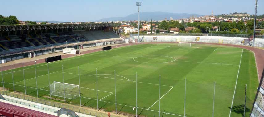 The pitch at Stadio Arezzo