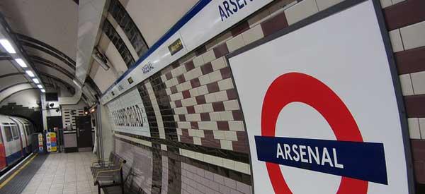 Inside Arsenal Tube Station
