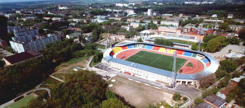 Aerial view of Arsenal Tula Stadium