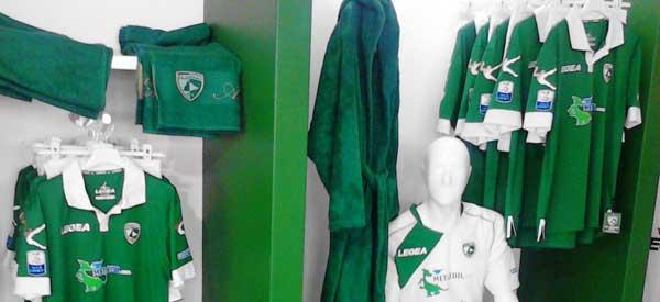 Interior of AS Avellino's club shop