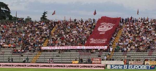 AS Cittadella supporters inside the stadium