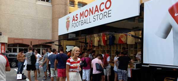 Exterior of AS Monaco club shop