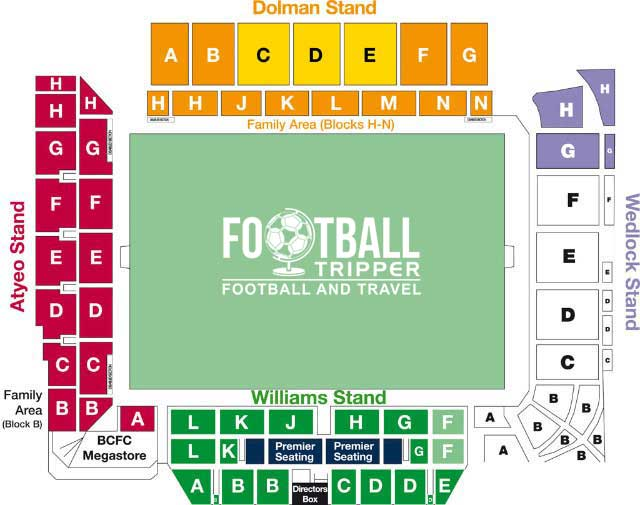 Ashton Gate Bristol Seating Plan