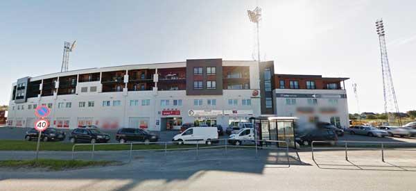 Main stand of Aspmyra Stadium