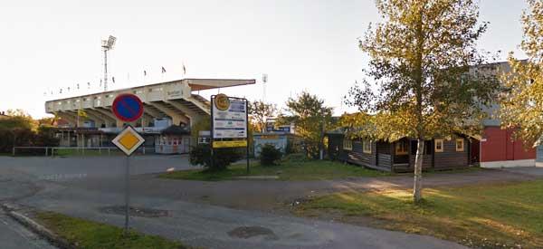Exterior of Aspmyra Stadium