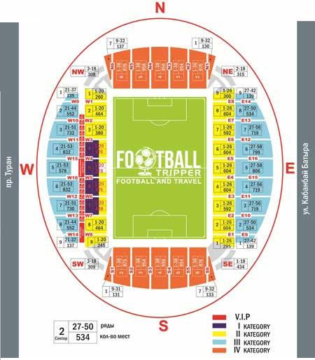 Stadium plan of Astana Arena