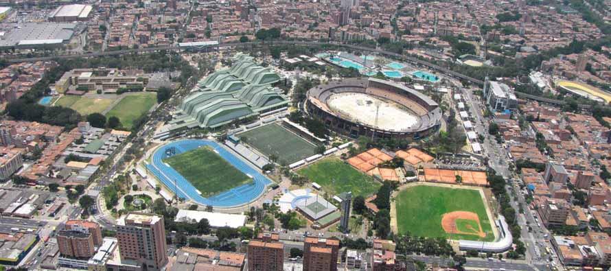 Aerial view of Atanasio Girardot Sports Complex
