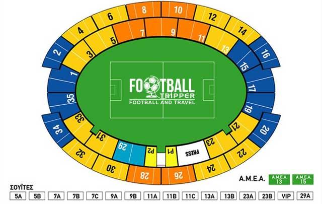 Athens Olympic Stadium map