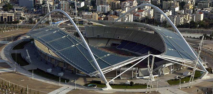 Aerial view of Athens Olympic Stadium