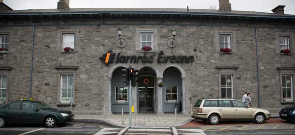 The old building which houses Athlone's train station