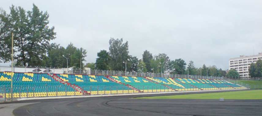 Main stand of Atlant Stadium