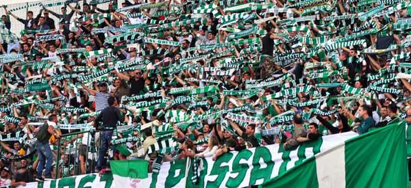 Avellino supporters inside the stadium