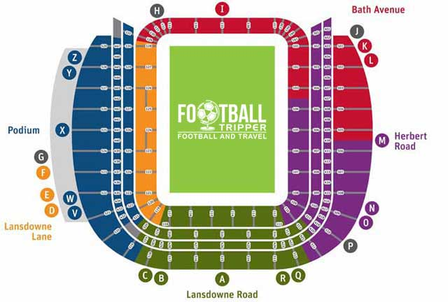 Aviva Stadium Seating Plan