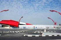Exterior view of Bahrain's national stadium