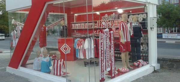 The exterior of Balikesirspor Kulubu's club shop