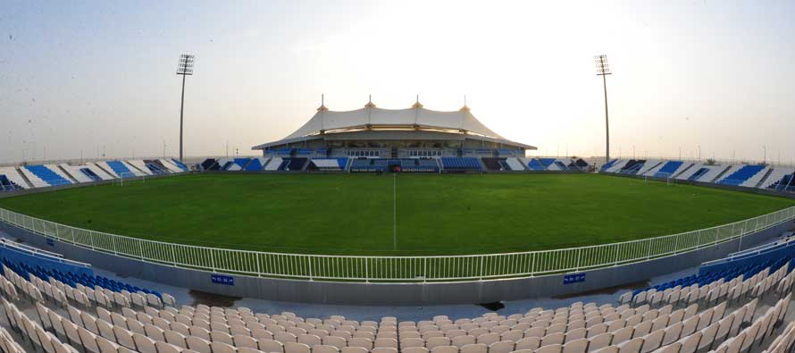 Main stand of Baniyas Stadium