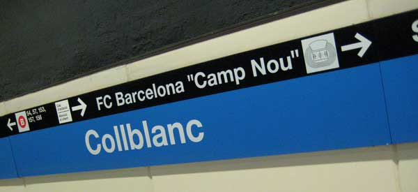 Collblanc is technically the closest station to the Nou Camp but it all depends where you are seated!