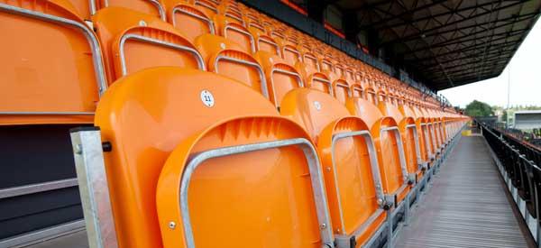 The Hive's orange seating