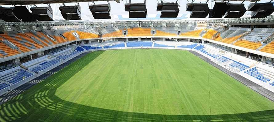 The pitch inside Basaksehir Stadi
